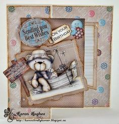 Polka Doodles Winston Bear collection.  http://www.polkadoodles.co.uk/product_info.php?products_id=6978  DT: Karon Hughes
