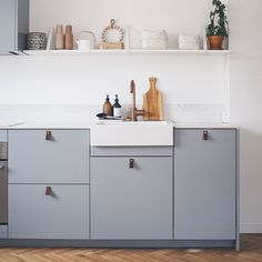 Helsingö: quality kitchens and wardrobes with IKEA cabinets frames. INGARÖ kitchen in Polar Grey. Ikea Variera, Ikea Duktig, Ikea Pax Wardrobe, Wardrobe Cabinets, Ikea Furniture, Bathroom Furniture, Dining Room Table, Kitchen Dining, Vintage Regal