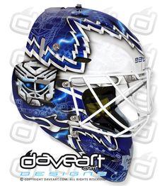 James Reimer's New Optimus Reim Mask Goalie Gear, Hockey Helmet, Hockey Gear, Goalie Mask, Hockey Goalie, Ice Hockey, Football Helmets, Montreal Canadiens, Helmet Design