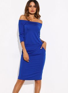 Polyester Solid Short Sleeve Knee-Length Casual Dresses
