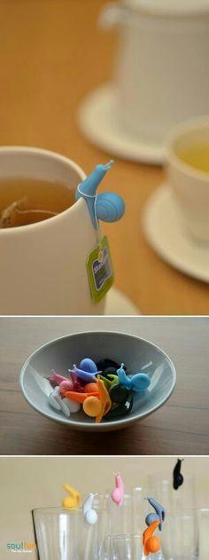 Snail tea bag holders
