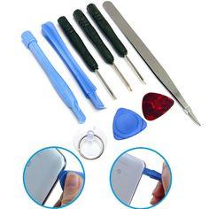 Profesional 9 IN 1 reparación de apertura Pry herramienta Set Kit para Tablet teléfono celular