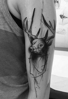 Kamil Mokot stag tattoo