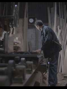 """""""The raw material is a constant source of inspiration. We use only solid, seasoned timber which undergoes two stages of seasoning. The seasoned timber is re-sawn using a Wartime Ripsaw, part of a collection which I scour the country for; archetypal woodworking machinery which is painstakingly restored to it's former glory.""""  Miles Gregory Director #woodwork #machinery #livingbritish #indigofurniture"""