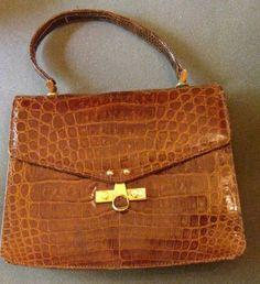 Vintage Alligator Skin Bag
