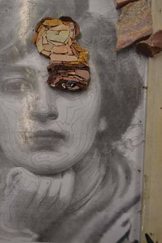 Creating a portrait with marble is surely the most fascinating thing I have been doing until now here at the mosaic school in Spilimbergo. Mosaic Diy, Mosaic Crafts, Mosaic Projects, Mosaic Glass, Mosaic Tiles, Art Projects, Mosaic Mirrors, Mosaic Wall, Art Crafts