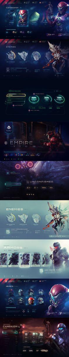 과학 기술 촬영 테마 UI 인터페이스 | GAMEUI- ...