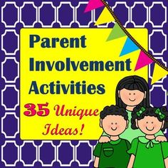 Parent Involvement Activities with Pizzazz