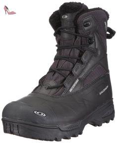 SALOMON Toundra mid WP 100996, Chaussures de randonnée homme, Noir - Schwarz (Asphalt/Black/Black), 45 EU - Chaussures salomon (*Partner-Link)