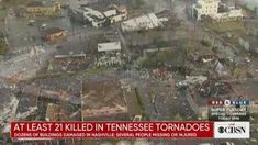 Tennessee tornadoes kill at least 24 people, including children, and leave a trail of destruction. Tornadoes, Cbs News, Destruction, Nashville, City Photo, Presidents, Trail, At Least
