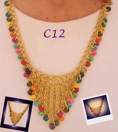 Collar medieval dorado. Collares  Bijouterie.