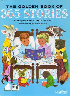 365 Stories, Illustrations by Richard Scarry, 1955- Cover