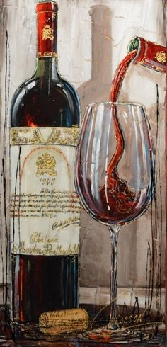 WINE ART PRINT Wine List I by Daphné B Bar Restaraunt Bottle Poster 12x12