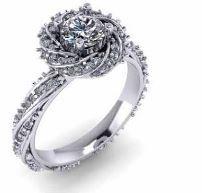 Paved twisted halo and band. White gold. Diamond engagement ring. #seneedhamjewelers #loganutah 94337A