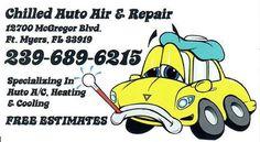 Chilled Auto Air & Repair: Chilled Auto Air & Repair ( 239 ) 689 - 6215 - McG...