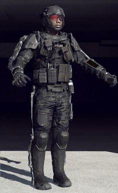 Call of Duty: Advanced Warfare - иллюстрации из игры на Riot Pixels Exoskeleton Suit, Powered Exoskeleton, Military Armor, Military Love, Call Of Duty Aw, Modern Warfare Pc, Futuristic Robot, Futuristic Technology, Advanced Warfare