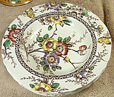 4 1907 Alfred Meakin Medway Decor Soup Bowls //pages.antiquesonfarmington. Alfred MeakinChina ...  sc 1 st  Pinterest & Franciscan Desert Rose 12-3/4\