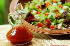 No-Fat Honey French Dressing Easy Homemade Salad Dressing Recipe Low Sodium Salad Dressing Recipe, Gluten Free Salad Dressing, Salad Dressing Recipes, Salad Recipes, Yummy Recipes, Super Simple, French Salad Dressings, Strawberry Vinaigrette, Low Sodium Recipes