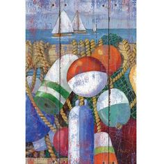 Rustic Floats And Boats House Flag