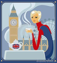 Stock Photo: Five-o-clock tea in London. Image: 10946640