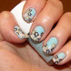 Blue flower nail art would be so cute on toenails