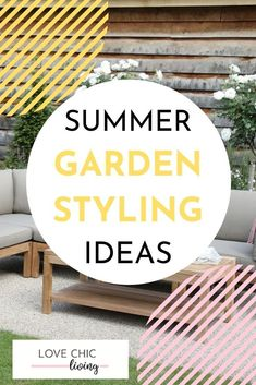 Summer is approaching and it's time to get some new garden styling ideas! Here are 4 ways to style your garden in 2020, including our favourite outdoor furniture, patio design ideas and summer BBQ sets that you need to add to your garden this year #lovechicliving Teak Garden Bench, Garden Sofa, Summer Bbq, Summer Garden, Contemporary Garden Rooms, Bbq Set, Outdoor Areas, Outdoor Cooking, Patio Design