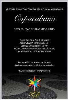 07/05 ♥ Kristhel Byancco Lança Nova Coleção de Jóias Masculinas no Copacabana Palace ♥ RJ ♥  http://paulabarrozo.blogspot.com.br/2014/05/0705-kristhel-byancco-lanca-nova.html