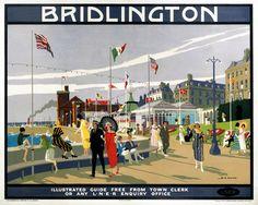 'Bridlington', LNER poster, 1923-1947. #essenzadiriviera.com