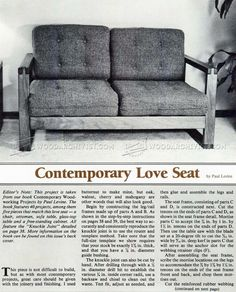 DIY Loveseat - Furniture Plans