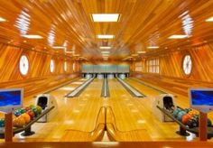 Awesome home bowling alley!