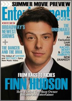 #Glee - Finn Hudson Glee Cory Monteith, Mark Salling, Half Smile, From Rags To Riches, Finn Hudson, Movie Previews, The Dancer, Naya Rivera, Dianna Agron
