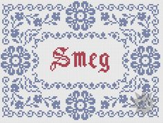 Red Dwarf 'Smeg' traditional style cross stitch <3 | by CapesAndCrafts on Etsy #Red_Dwarf