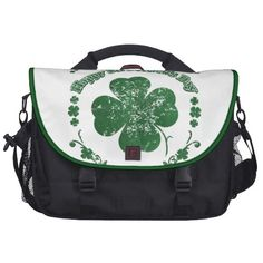 Happy St. Patrick's Day - vintage style Bag For Laptop   •   This design is available on t-shirts, hats, mugs, buttons, key chains and much more   •   Please check out our others designs at: www.zazzle.com/ZuzusFunHouse*