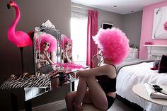 A bit of fluff? Flamingo Room. Upton House Fowey, Cornwall