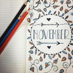 Working on November layouts for the bullet journal