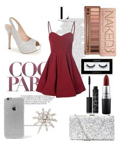 """NYE outfit"" by miss-chloe13 on Polyvore featuring Inglot, Lauren Lorraine, Glamorous, MAC Cosmetics, Urban Decay, NARS Cosmetics, LA: Hearts and Jennifer Behr"