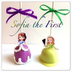 Sofia the First cake pops - these are too freakin cute!