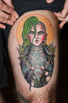 Valerie Vargas tattoo, punk rock chick, punk rock girl tattoo, girl with tattoos, best tattoo studio nyc, best tattoo shop