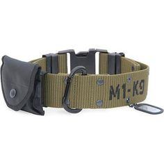 Pistol belt dog collar