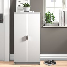 Zipcode Design 21 Pair Shoe Storage Cabinet & Reviews | Wayfair.co.uk Under Sink Storage Unit, Wood Storage Bench, Shoe Storage Cabinet, Storage Cabinets, Shoe Cabinets, Shoe Cabinet Design, Shoe Storage Accessories, 50 Pair Shoe Rack, Filigranes Design