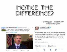 Obama The Statesman and Trump The Klansman