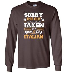 Italian Shirt Cool Gift for Boyfriend, Husband or Lover - Long Sleeve T-Shirt