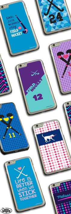 Looking for the perfect gift for your favorite field hockey player? Check out these awesome designs featured on our phone cases! These custom field hockey phone cases can be personalized with player name and player number to create an extra special field hockey gift! Exclusively from ChalkTalkSPORTS.com!