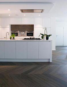 Gustav Grey. (From Exquisite Surfaces) custom Aged French Oak floor #greyflooringhoods