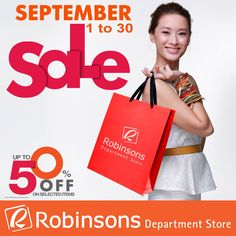 6cca125ed16428 50% off on selected items at Robinsons Department Stores until Sep 30