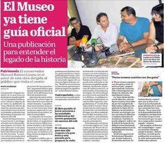 """Así refleja el diario """"La Voz de Almería"""" la presentación de la """"Guía Oficial del Museo de Almería"""" (La Voz de Almería, 2/09/2014)."""