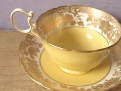 Antique gold tea cup and saucer set, vintage 1920's ...