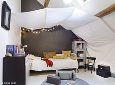 cool tent bed.