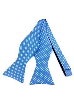 Sky Blue with White Polka Dots Self Tied Bowtie Ties Online, Formal Tie, Blue Bow Tie, Find A Match, Bowties, Wedding Men, Blue Backgrounds, Groomsmen, Color Combinations