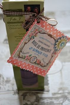 French gift tag tutorial and printable picture